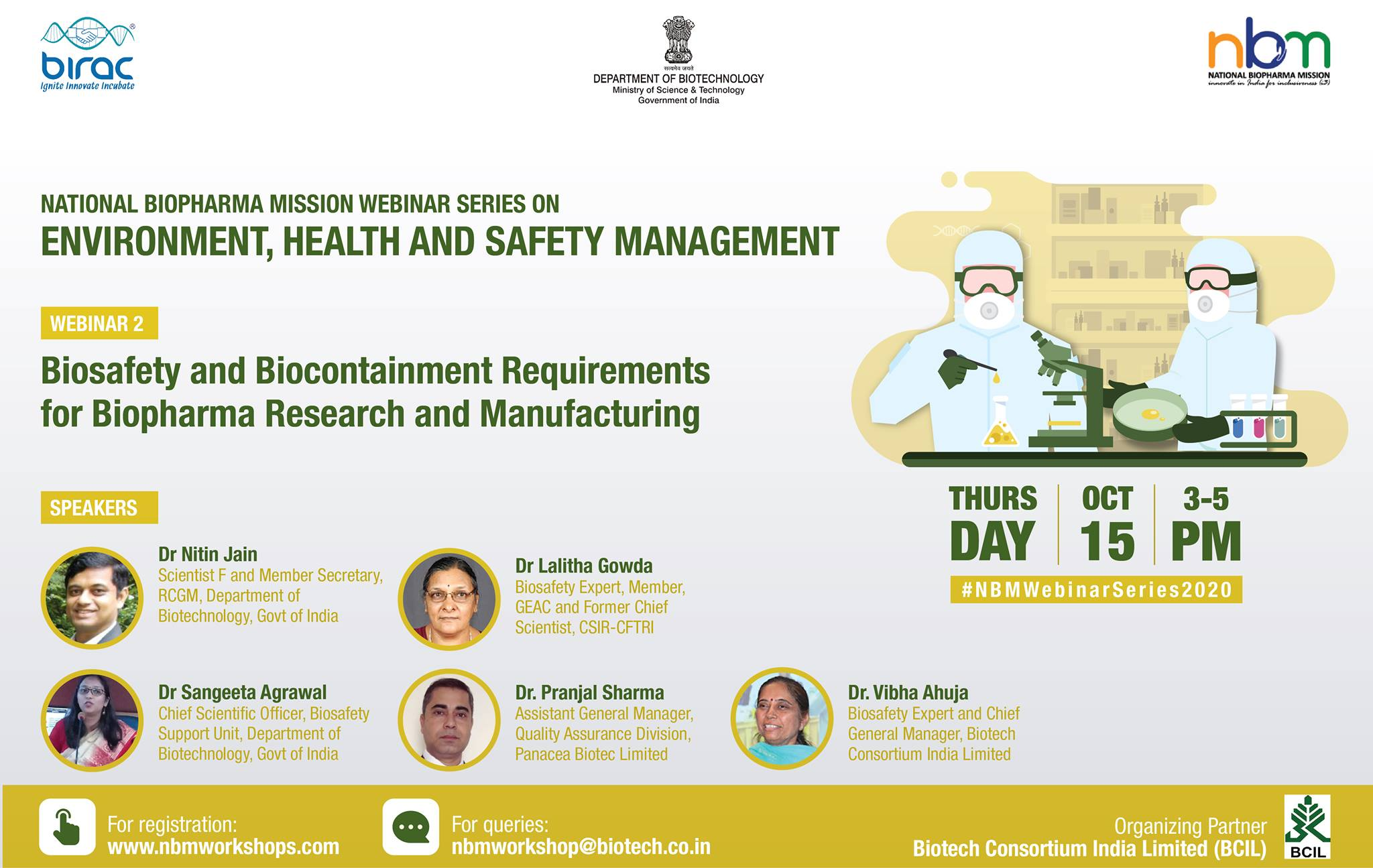 Biosafety and Biocontainment Requirements for Biopharma Research and Manufacturing